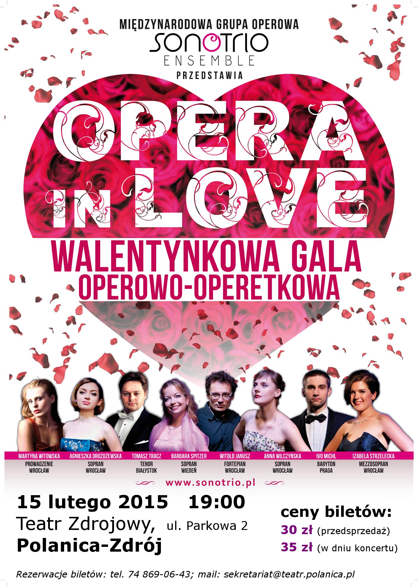 2015-02-15 plakat Opera in Love - Polanica-Zdroj