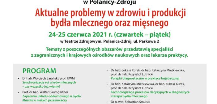 XXIII konferencja popularno-naukowa – Aktualne problemy w zdrowiu i produkcji bydła mlecznego i mięsnego
